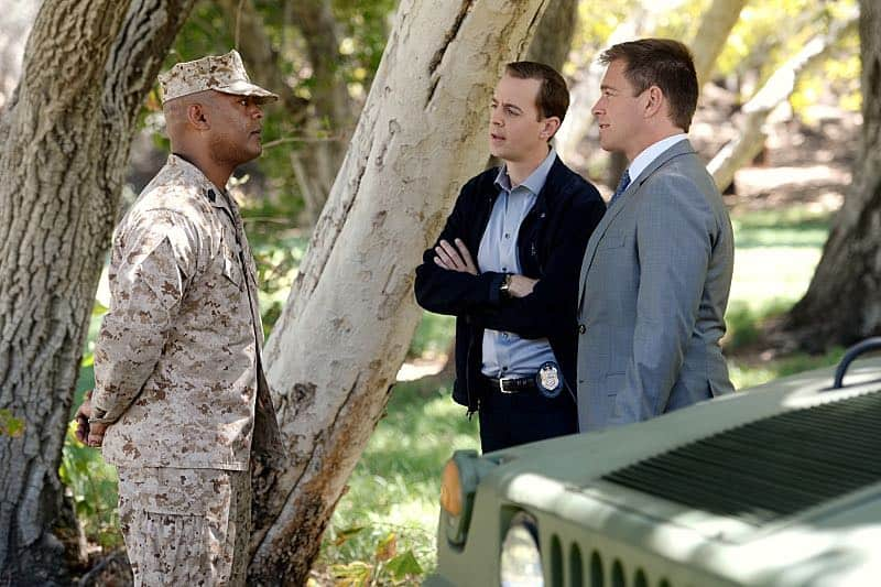 """""""Incognito"""" -- After a Marine is found murdered in Quantico hours after calling Gibbs to discuss a possible case, Bishop and McGee go undercover as a married couple to run surveillance on a Marine Lieutenant and his wife, on NCIS, Tuesday, Oct. 6 (8:00-9:00 PM, ET/PT), on the CBS Television Network. Pictured left to right: Jason E. Kelley, Sean Murray and Michael Weatherly Photo: Darren Michaels/CBS ©2015 CBS Broadcasting, Inc. All Rights Reserved"""
