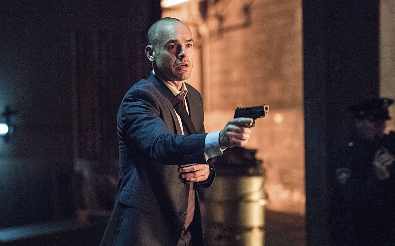 """Arrow -- """"Green Arrow"""" -- Image AR401B_0535b -- Pictured: Paul Blackthorne as Detective Quentin Lance -- Photo: Dean Buscher /The CW -- © 2015 The CW Network, LLC. All Rights Reserved"""
