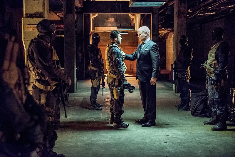 """Arrow -- """"Green Arrow"""" -- Image AR401B_0119b -- Pictured: Neal McDonough as Damien Darhk -- Photo: Dean Buscher /The CW -- © 2015 The CW Network, LLC. All Rights Reserved."""