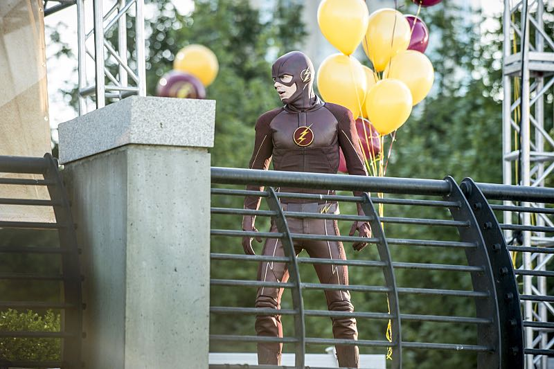 """The Flash -- """"The Man Who Saved Central City"""" -- Image FLA201a_0014b -- Pictured: Grant Gustin as The Flash -- Photo: Cate Cameron /The CW -- © 2015 The CW Network, LLC. All rights reserved"""
