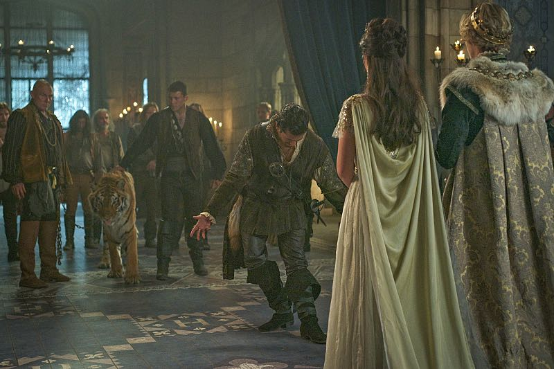 "Reign -- ""Three Queens, Two Tigers"" -- Image Number: RE301a_0053.jpg -- Pictured (L-R): Saamer Usmani as Martin de Lambert, Adelaide Kane as Mary, Queen of Scotland and France and Toby Regbo as King Francis II -- Photo: Sven Frenzel/The CW -- © 2015 The CW Network, LLC. All rights reserved."