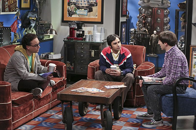 """The Separation Oscillation"" -- Leonard confronts the woman he kissed on the North Sea in an attempt to set Penny's mind at ease, on THE BIG BANG THEORY, Monday, Sept. 28 (8:00-8:31 PM, ET/PT), on the CBS Television Network. pictured left to right: Johnny Galecki, Kunal Nayyar and Simon Helberg Photo: Michael Yarish/Warner Bros. Entertainment Inc. © 2015 WBEI. All rights reserved."