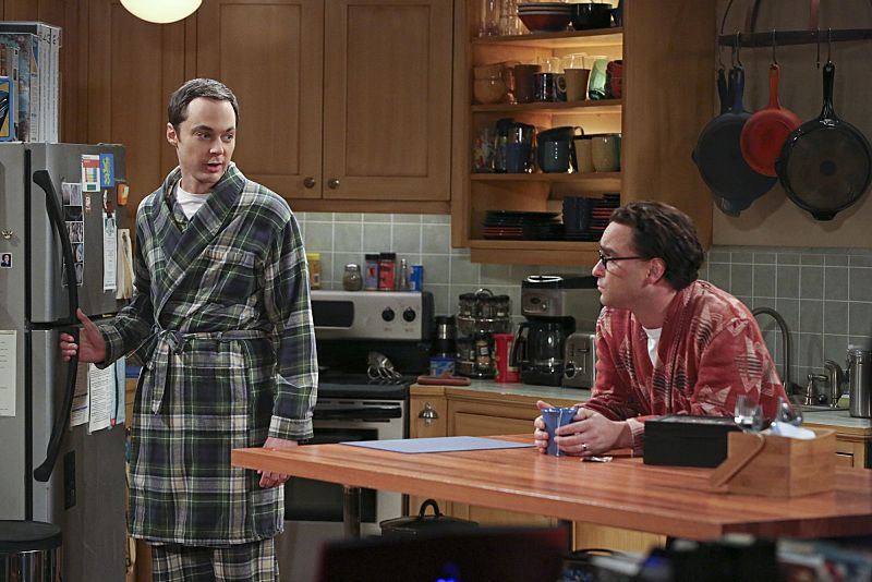 """The Separation Oscillation"" -- Leonard (Johnny Galecki, right) confronts the woman he kissed on the North Sea in an attempt to set Penny's mind at ease. Also, Sheldon (Jim Parsons, left) films a special episode of ""Fun with Flags"" after his breakup with Amy, on THE BIG BANG THEORY, Monday, Sept. 28 (8:00-8:31 PM, ET/PT), on the CBS Television Network.  Photo: Michael Yarish/Warner Bros. Entertainment Inc. © 2015 WBEI. All rights reserved."