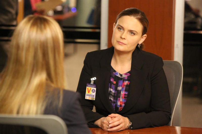 "BONES:  Emily Deschanel in the ""The Loyalty in the Lie"" season premiere of BONES airing Thursday, Oct. 1 (8:00-9:00 PM ET/PT) on FOX.  ©2015 Fox Broadcasting Co.  Cr:  Patrick McElhenney/FOX"