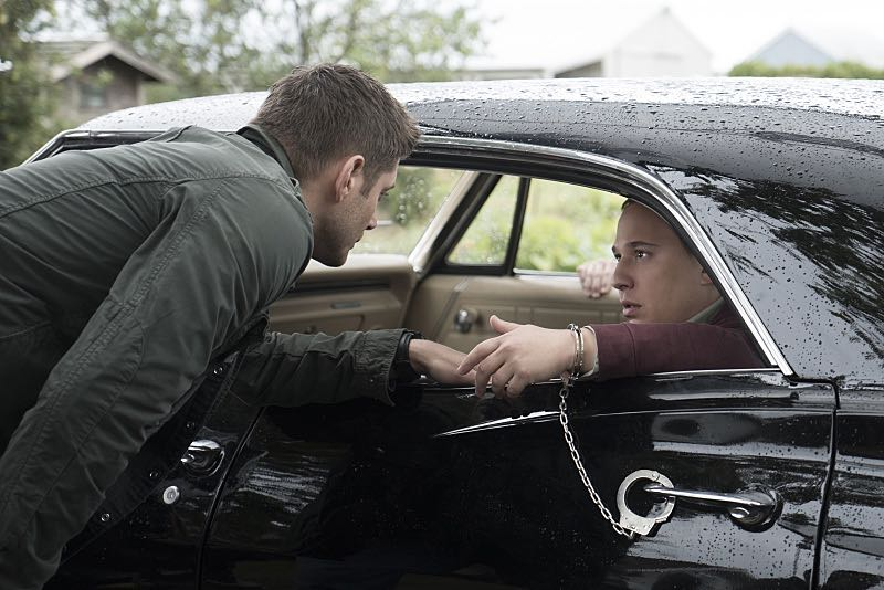 "Supernatural -- ""Thin Lizzie"" -- Image SN1105b_0162 -- Pictured (L-R): Jensen Ackles as Dean and Jared Gertner as Len -- Photo: Katie Yu/The CW -- © 2015 The CW Network, LLC. All Rights Reserved."