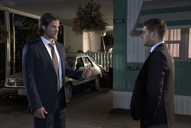 "Supernatural -- ""Thin Lizzie"" -- Image SN1105a_0224 -- Pictured (L-R): Jared Padalecki as Sam and Jensen Ackles as Dean -- Photo: Katie Yu/The CW -- © 2015 The CW Network, LLC. All Rights Reserved."
