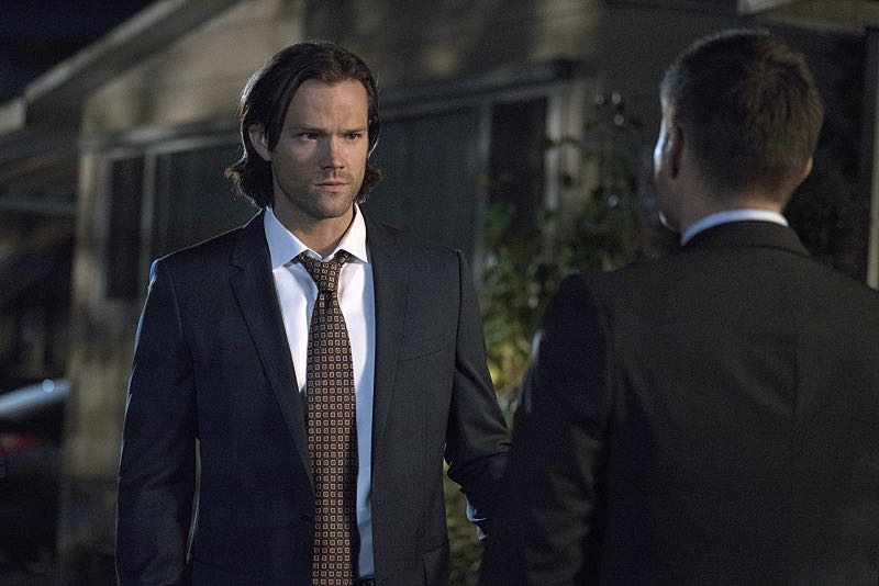 "Supernatural -- ""Thin Lizzie"" -- Image SN1105a_0278 -- Pictured (L-R): Jared Padalecki as Sam and Jensen Ackles as Dean -- Photo: Katie Yu/The CW -- © 2015 The CW Network, LLC. All Rights Reserved."
