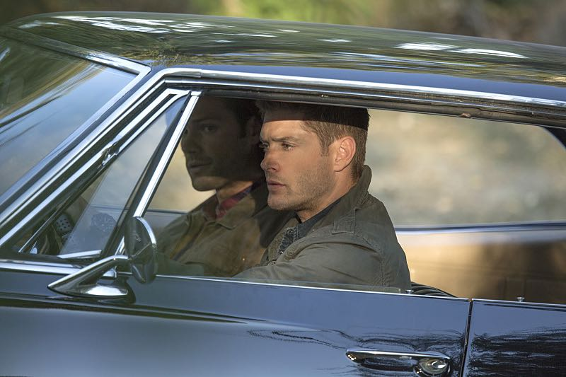 "Supernatural -- ""Thin Lizzie"" -- Image SN1105a_0159 -- Pictured (L-R): Jared Padalecki as Sam and Jensen Ackles as Dean -- Photo: Katie Yu/The CW -- © 2015 The CW Network, LLC. All Rights Reserved."