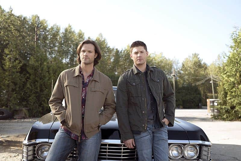 "Supernatural -- ""Thin Lizzie"" -- Image SN1105a_0002 -- Pictured (L-R) Jared Padalecki as Sam and Jensen Ackles as Dean -- Photo: Katie Yu/The CW -- © 2015 The CW Network, LLC. All Rights Reserved."