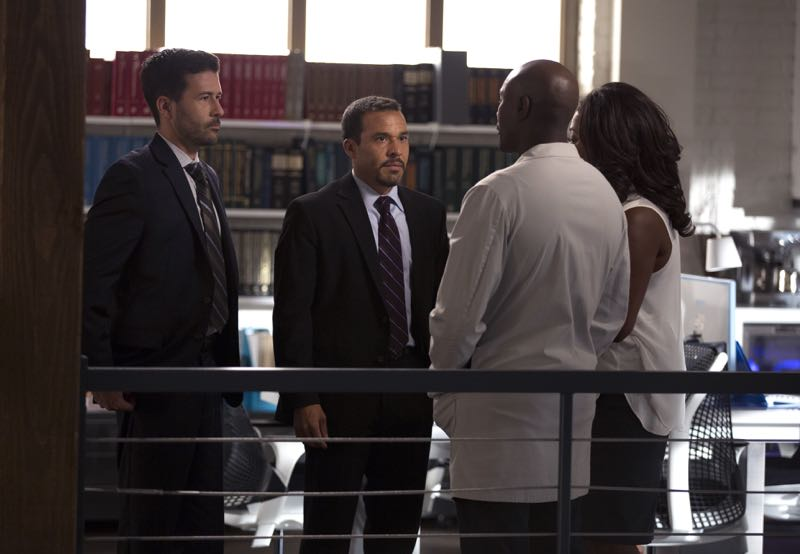 "ROSEWOOD: L-R: Guest stars Ryan W. Garcia and Michael Irby and series stars Morris Chestnut and Lorraine Toussaint in the ""Policies and Ponies"" episode of ROSEWOOD airing Wednesday, Nov. 4 (8:00-9:00 PM ET/PT) on FOX. ©2015 Fox Broadcasting Co. Cr: John P. Fleenor/FOX."