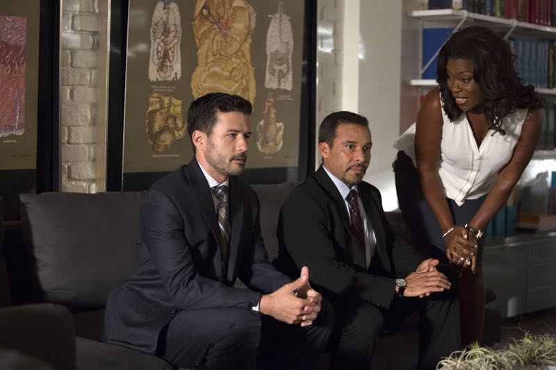 "ROSEWOOD: L-R: Guest stars Ryan W. Garcia and Michael Irby and series star Lorraine Toussaint in the ""Policies and Ponies"" episode of ROSEWOOD airing Wednesday, Nov. 4 (8:00-9:00 PM ET/PT) on FOX. ©2015 Fox Broadcasting Co. Cr: John P. Fleenor/FOX."
