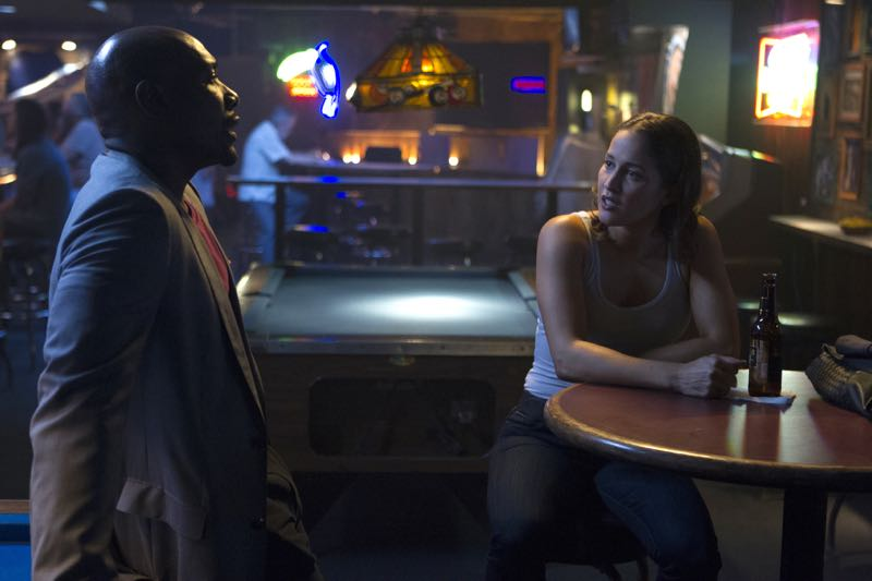 "ROSEWOOD: L-R: Morris Chestnut and Jaina Lee Ortiz in the ""Policies and Ponies"" episode of ROSEWOOD airing Wednesday, Nov. 4 (8:00-9:00 PM ET/PT) on FOX. ©2015 Fox Broadcasting Co. Cr: John P. Fleenor/FOX."