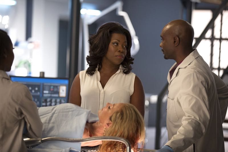 "ROSEWOOD: L-R: Lorraine Toussaint and Morris Chestnut in the ""Policies and Ponies"" episode of ROSEWOOD airing Wednesday, Nov. 4 (8:00-9:00 PM ET/PT) on FOX. ©2015 Fox Broadcasting Co. Cr: John P. Fleenor/FOX."