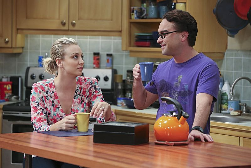 """The Spock Resonance"" -- Leonard (Johnny Galecki, right) and Penny (Kaley Cuoco, left) are shocked to learn that Sheldon had an engagement ring for Amy, on THE BIG BANG THEORY, Thursday, Nov. 5 (8:00-8:31 PM, ET/PT), on the CBS Television Network. Photo: Michael Yarish/Warner Bros. Entertainment Inc. © 2015 WBEI. All rights reserved."