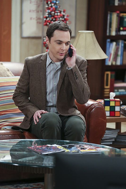 """The Spock Resonance"" -- While being interviewed for a documentary about Spock from ""Star Trek,"" Sheldon (Jim Parsons, pictured) struggles to suppress his emotions about his recent break-up with Amy, on THE BIG BANG THEORY, Thursday, Nov. 5 (8:00-8:31 PM, ET/PT), on the CBS Television Network. Photo: Michael Yarish/Warner Bros. Entertainment Inc. © 2015 WBEI. All rights reserved."