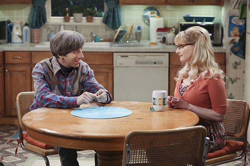 """The Spock Resonance"" -- Wolowitz (Simon Helberg , left) and Bernadette (Melissa Rauch, right) butt heads over remodeling his childhood home, on THE BIG BANG THEORY, Thursday, Nov. 5 (8:00-8:31 PM, ET/PT), on the CBS Television Network. Photo: Michael Yarish/Warner Bros. Entertainment Inc. © 2015 WBEI. All rights reserved."