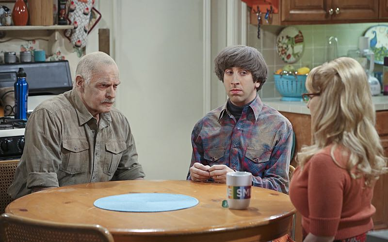 """The Spock Resonance"" -- Wolowitz and Bernadette butt heads over remodeling his childhood home, on THE BIG BANG THEORY, Thursday, Nov. 5 (8:00-8:31 PM, ET/PT), on the CBS Television Network. Pictured left to right: Casey Sander, Simon Helberg and Melissa Rauch Photo: Michael Yarish/Warner Bros. Entertainment Inc. © 2015 WBEI. All rights reserved."