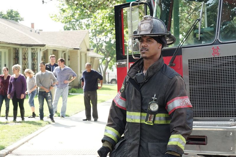 "CHICAGO FIRE -- ""Your Time Is Coming"" Episode 404 -- Pictured: (l-r) Brian White as Dallas Patterson -- (Photo by: Elizabeth Morris/NBC)"