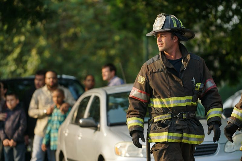 "CHICAGO FIRE -- ""Your Time Is Coming"" Episode 404 -- Pictured: (l-r) Taylor Kinney as Kelly Severide -- (Photo by: Elizabeth Morris/NBC)"