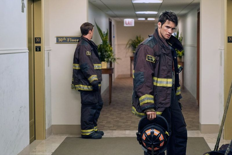 "CHICAGO FIRE -- ""I Walk Away"" Episode 403 -- Pictured: Steve McQueen as Jimmy -- (Photo by: Elizabeth Morris/NBC)"