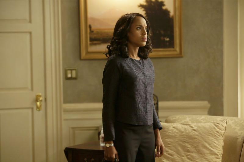 "SCANDAL - ""Get Out of Jail, Free"" - Fitz and Olivia are presented with a shocking plan that might just make all of their troubles go away, and Mellie is put through the ringer when confronted about her troubled marriage. Meanwhile, the Gladiators continue to defend Olivia, and Susan Ross turns to David for advice, on ""Scandal,"" THURSDAY, OCTOBER 29 (9:00-10:00 p.m., ET) on the ABC Television Network. (ABC/Nicole Wilder) KERRY WASHINGTON"