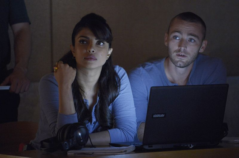"QUANTICO - ""God"" - The NATs learn surveillance by putting it into practice with Miranda and her troubled son, Charlie. Shelby tries to keep Caleb at a distance, but Raina opens the door to a closer relationship with Simon. In the future, Alex is helped when she tries to hack into an FBI computer, on ""Quantico,"" SUNDAY, NOVEMBER 1 (10:01-11:00 p.m., ET) on the ABC Television Network. (ABC/Phillipe Bosse) PRIYANKA CHOPRA, JAKE MCLAUGHLIN"