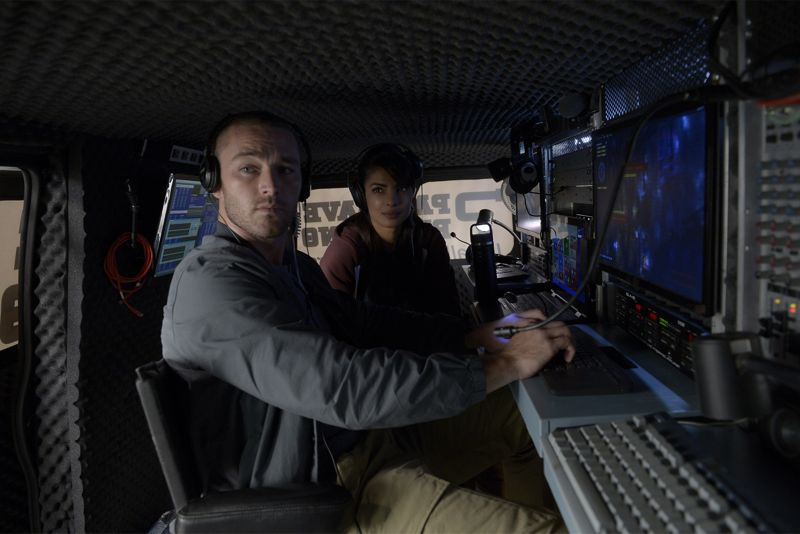 "QUANTICO - ""God"" - The NATs learn surveillance by putting it into practice with Miranda and her troubled son, Charlie. Shelby tries to keep Caleb at a distance, but Raina opens the door to a closer relationship with Simon. In the future, Alex is helped when she tries to hack into an FBI computer, on ""Quantico,"" SUNDAY, NOVEMBER 1 (10:01-11:00 p.m., ET) on the ABC Television Network. (ABC/Phillippe Bosse) JAKE MCLAUGHLIN, PRIYANKA CHOPRA"