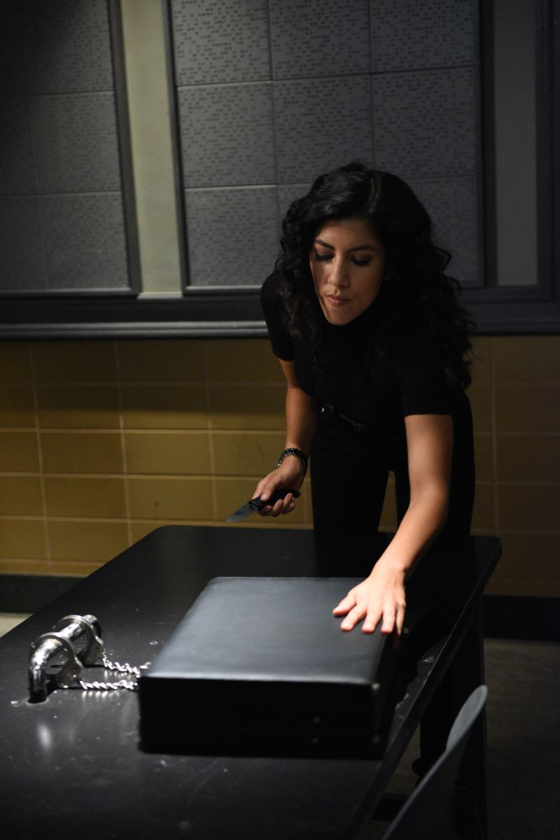 "BROOKLYN NINE-NINE: L-R: Stephanie Beatriz in the ""Halloween 3"" episode of BROOKLYN NINE-NINE airing Sunday, Oct. 25 (8:30-9:00 PM ET/PT) on FOX.  ©2015 Fox Broadcasting Co. Cr: FOX"