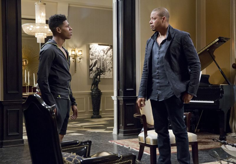 """EMPIRE: L-R: Bryshere Gray and Terrence Howard in the """"A High Hope For A Low Heaven"""" episode of EMPIRE airing Wednesday, Nov. 4 (9:00-10:00 PM ET/PT) on FOX. ©2015 Fox Broadcasting Co. Cr: Chuck Hodes/FOX."""