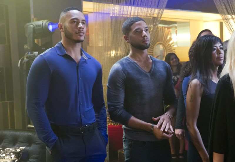 """EMPIRE: L-R: Trai Byers and Jussie Smollett in the """"A High Hope For A Low Heaven"""" episode of EMPIRE airing Wednesday, Nov. 4 (9:00-10:00 PM ET/PT) on FOX. ©2015 Fox Broadcasting Co. Cr: Chuck Hodes/FOX."""