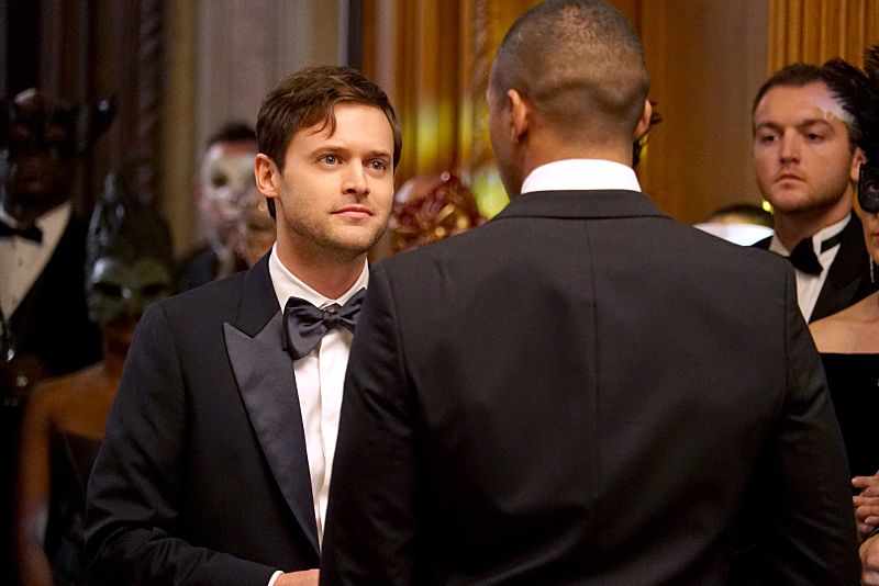 """The Originals -- """"A Walk on the Wild Side"""" -- Image Number: OG304b_0033.jpg -- Pictured (L-R): Oliver Ackland as Tristan and Charles Michael Davis as Marcel -- Photo: Annette Brown/The CW -- © 2015 The CW Network, LLC. All rights reserved."""