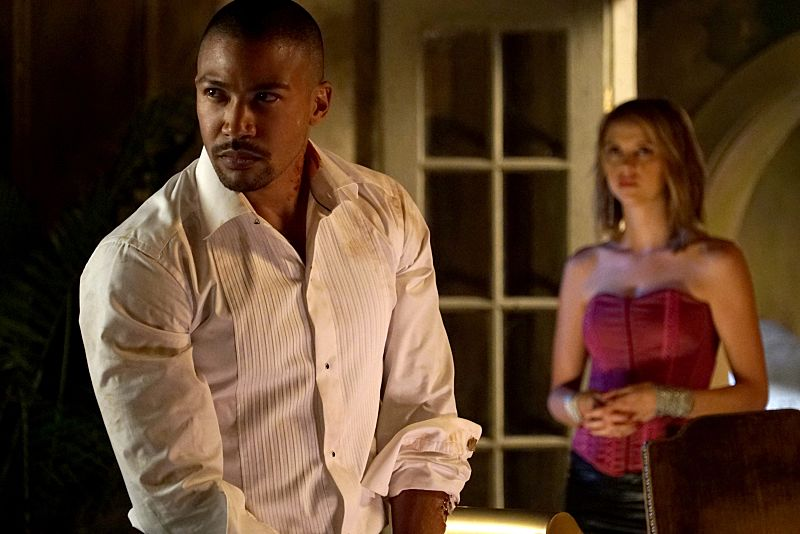 "The Originals -- ""A Walk on the Wild Side"" -- Image Number: OG304b_0033.jpg -- Pictured (L-R): Charles Michael Davis as Marcel and Riley Voelkel as Freya -- Photo: Annette Brown/The CW -- © 2015 The CW Network, LLC. All rights reserved."
