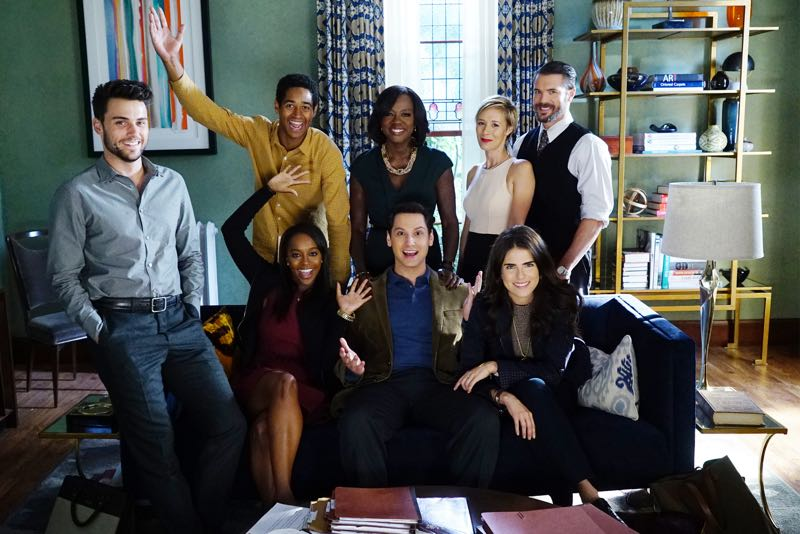 "HOW TO GET AWAY WITH MURDER - ""Two Birds, One Millstone"" - Annalise takes on a new client, a transgender professor accused of killing her husband. Meanwhile, the Keating 5 are left to handle the Hapstall case and they discover a shocking new suspect, on  ""How to Get Away with Murder,"" THURSDAY OCTOBER 29 (10:00-11:00 p.m., ET) on the ABC Television Network. (ABC/Richard Cartwright) JACK FALAHEE, AJA NAOMI KING, ALFRED ENOCH, VIOLA DAVIS, MATT MCGORRY, LIZA WEIL, KARLA SOUZA, CHARLIE WEBER"
