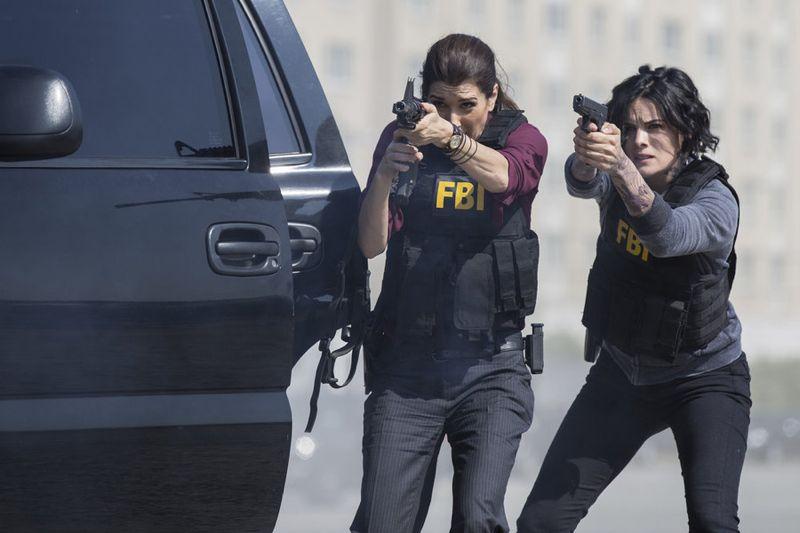 "BLINDSPOT -- ""Cede Your Soul"" Episode 106 -- Pictured: (l-r) Audrey Esparza as Tasha Zapata, Jaimie Alexander as Jane Doe -- (Photo by: Paul Sarkis/NBC)"