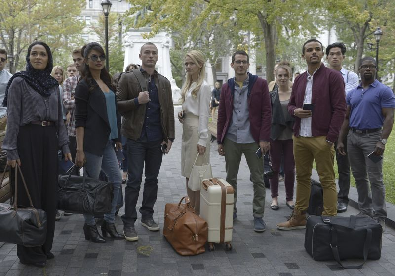 "QUANTICO - ""Found"" - The trainees leave campus for the first time while undergoing their first undercover assignment. With an evening full of unpredictable events, Alex and Ryan find themselves getting close while the recruits' skills are tested. In the future, Alex decides to tell her side of the story and sits down for her first public interview leaving everyone watching to wonder who is really telling the truth, on ""Quantico,"" SUNDAY, OCTOBER 25 (10:01-11:00 p.m., ET) on the ABC Television Network. (ABC/Phillippe Bosse) YASMINE AL MASSRI, PRIYANKA CHOPRA, JAKE MCLAUGHLIN, JOHANNA BRADDY, TATE ELLINGTON, JACOB ARTIST"
