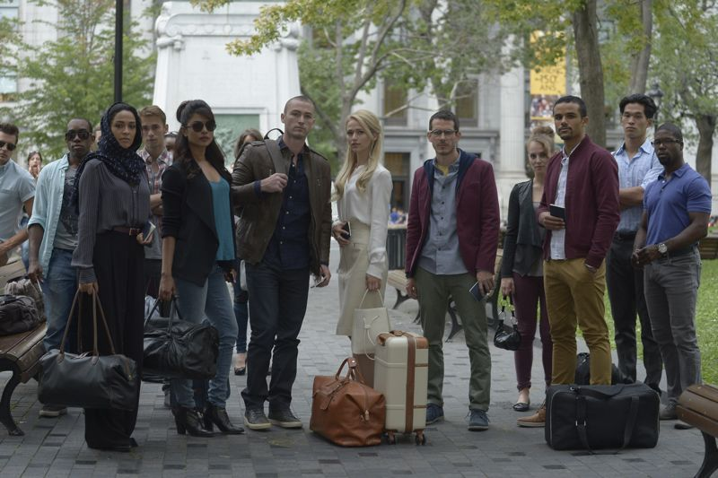"QUANTICO - ""Found"" - The trainees leave campus for the first time while undergoing their first undercover assignment. With an evening full of unpredictable events, Alex and Ryan find themselves getting close while the recruits' skills are tested. In the future, Alex decides to tell her side of the story and sits down for her first public interview leaving everyone watching to wonder who is really telling the truth, on ""Quantico,"" SUNDAY, OCTOBER 25 (10:01-11:00 p.m., ET) on the ABC Television Network. (ABC/Phillippe Bosse) YASMINE AL MASSRI, PRIYANKA CHOPRA, JAKE MCLAUGHLIN, JOHANNA BRADDY, TATE ELLINGTON, SHAUNA BRADLEY"