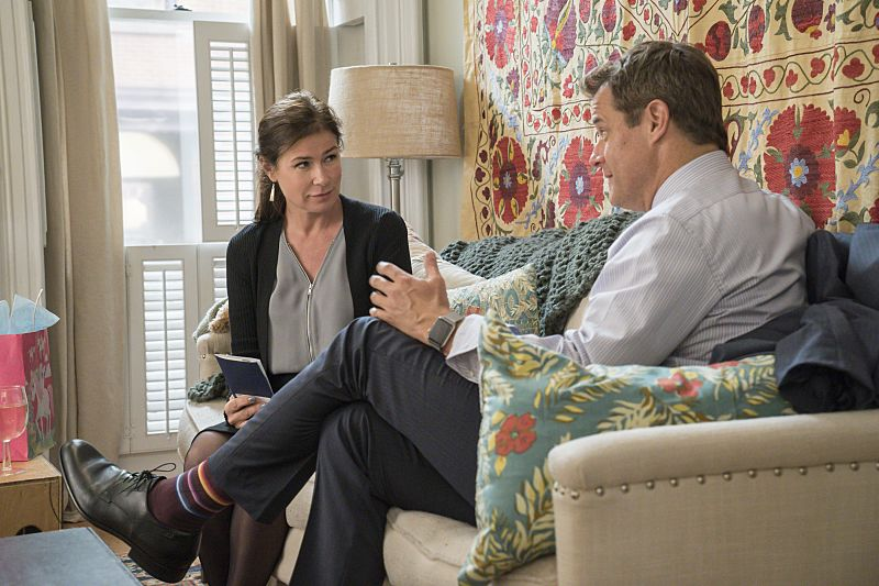 Maura Tierney as Helen and Josh Stamberg as Max in The Affair (season 2, episode 4). - Photo: Mark Schafer/SHOWTIME - Photo ID: TheAffair_204_1777