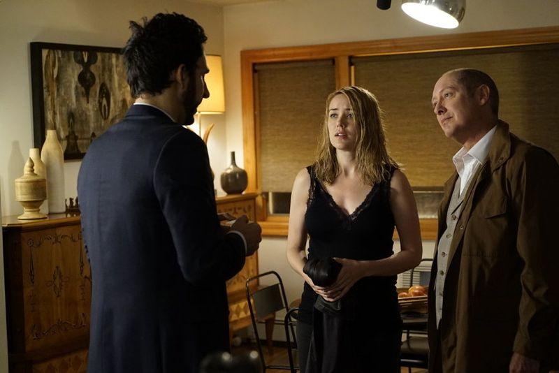 "THE BLACKLIST -- ""The Djinn"" Episode 304 -- Pictured: (l-r) Megan Boone as Liz Keen, James Spader as Red Reddington -- (Photo by: Peter Kramer/NBC)"