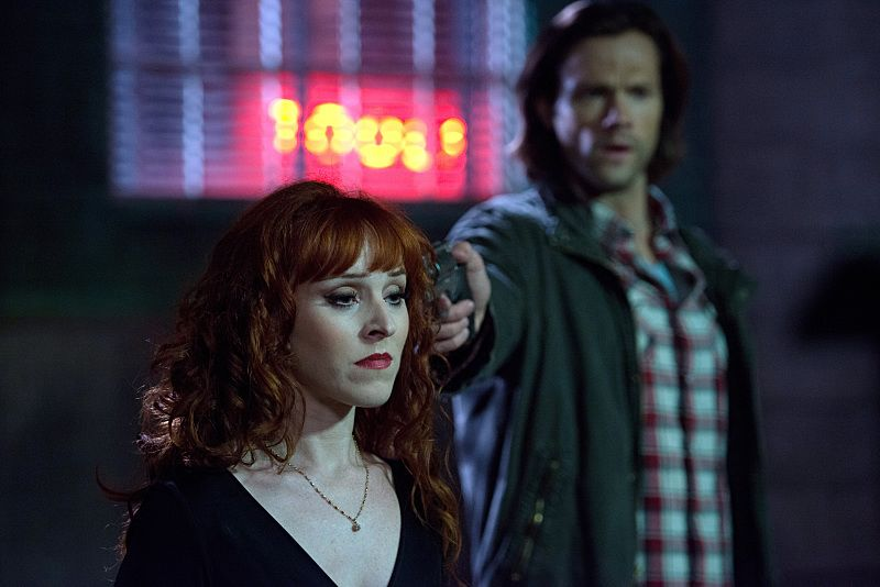 "Supernatural -- ""The Bad Seed"" -- Image SN1101B_0308.jpg -- Pictured (L-R): Ruth Connell as Rowena and Jared Padalecki as Sam -- Photo: Diyah Pera /The CW -- © 2015 The CW Network, LLC. All Rights Reserved."