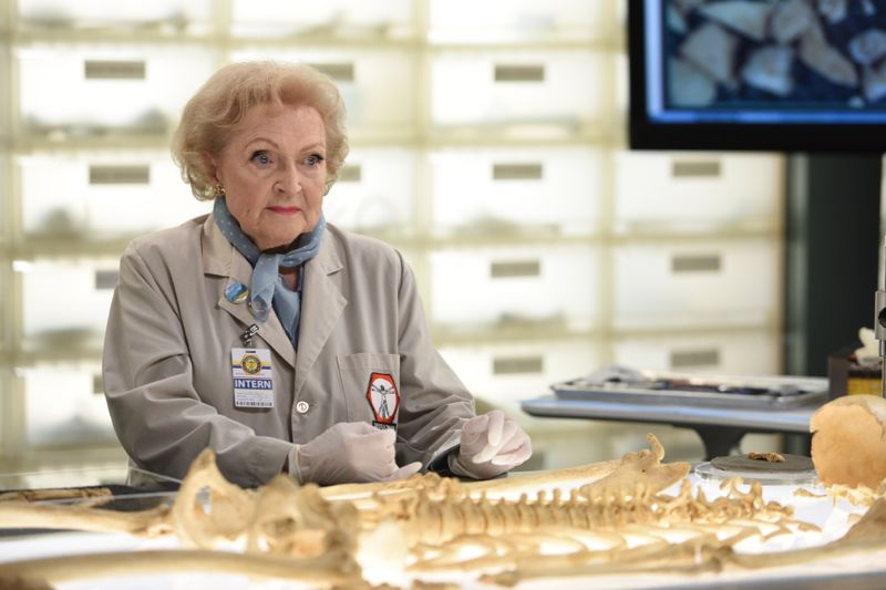 "BONES: Guest star Betty White in the ""The Carpals in the Coy-Wolves"" episode of BONES airing Thursday, Oct. 22 (8:00-9:00 PM ET/PT) on FOX. ©2015 Fox Broadcasting Co. Cr:"