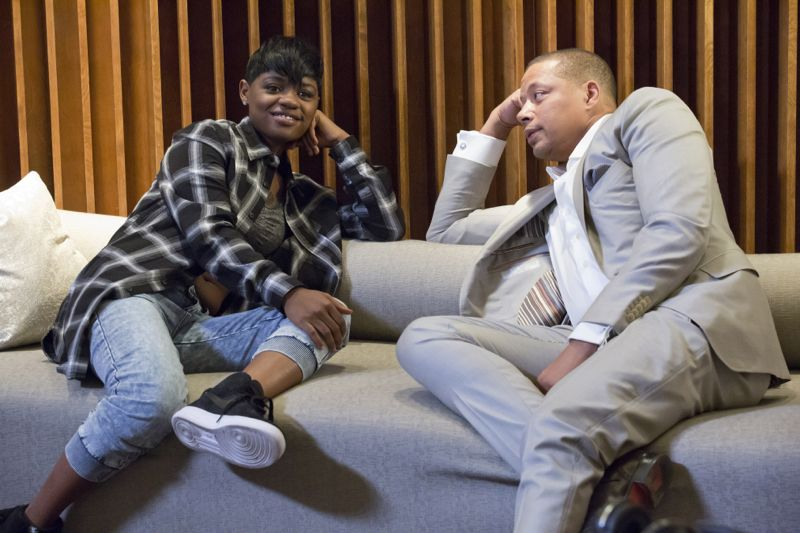 """EMPIRE: L-R: Guest star Bre-Z and Terrence Howard in the """"Be True"""" episode of EMPIRE airing Wednesday, Oct. 21 (9:00-10:00 PM ET/PT) on FOX. ©2015 Fox Broadcasting Co. Cr: Chuck Hodes/FOX."""