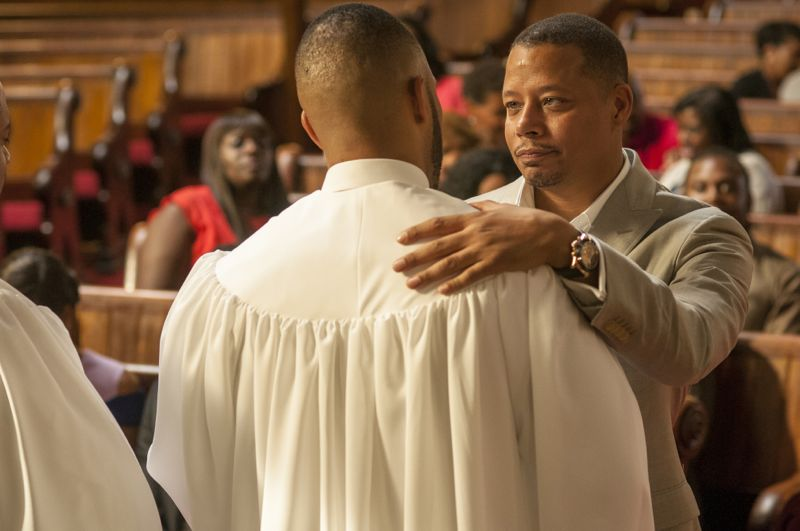 """EMPIRE: L-R: Trai Byers and Terrence Howard in the """"Be True"""" episode of EMPIRE airing Wednesday, Oct. 21 (9:00-10:00 PM ET/PT) on FOX. ©2015 Fox Broadcasting Co. Cr: Matt Dinerstein/FOX."""