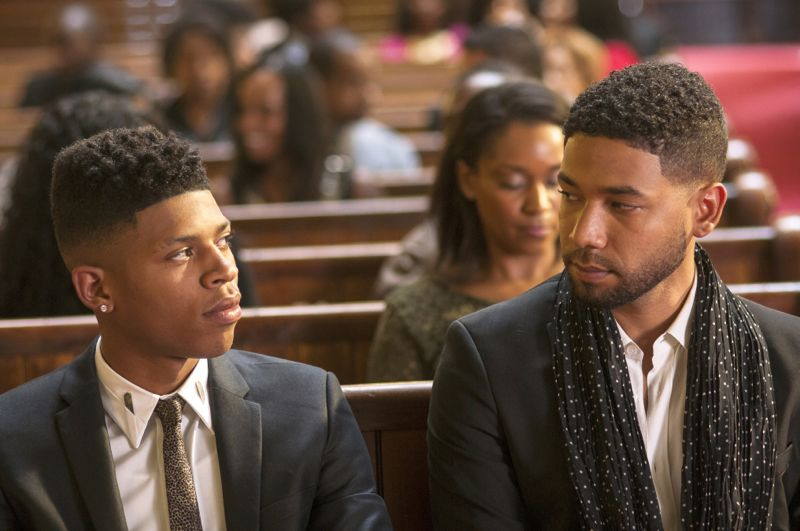 """EMPIRE: L-R: Bryshere Gray and Jussie Smollett in the """"Be True"""" episode of EMPIRE airing Wednesday, Oct. 21 (9:00-10:00 PM ET/PT) on FOX. ©2015 Fox Broadcasting Co. Cr: Matt Dinerstein/FOX."""