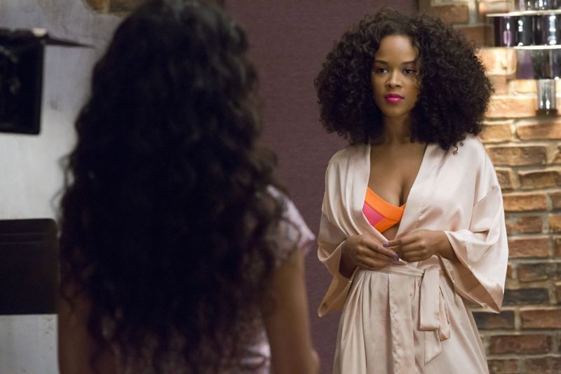 """EMPIRE: L-R: Guest star Jamila Velazquez and Serayah McNeill in the """"Be True"""" episode of EMPIRE airing Wednesday, Oct. 21 (9:00-10:00 PM ET/PT) on FOX. ©2015 Fox Broadcasting Co. Cr: Chuck Hodes/FOX."""
