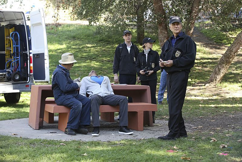 """Viral"" -- When a petty officer's murder matches the M.O. of a local serial killer, the NCIS team must determine if this is the killer's latest victim or the work of a copycat, on NCIS, Tuesday, Oct. 27 (8:00-9:00 PM, ET/PT), on the CBS Television Network. Pictured left to right: David McCallum, Sean Murray, Emily Wickersham and Mark Harmon Photo: Monty Brinton/CBS ©2015 CBS Broadcasting, Inc. All Rights Reserved"