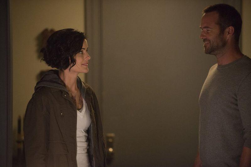 "Blindspot -- ""Split The Law"" Episode 105 -- Pictured: (l-r) Jaimie Alexander as Jane Doe, Sullivan Stapleton as Kurt Weller -- (Photo by: Barbara Nitke/NBC)"