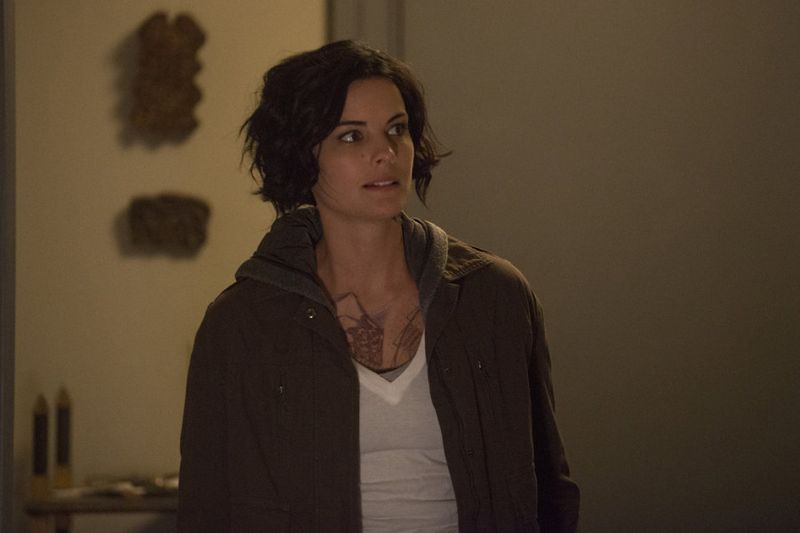 "Blindspot -- ""Split The Law"" Episode 105 -- Pictured: Jaimie Alexander as Jane Doe -- (Photo by: Barbara Nitke/NBC)"