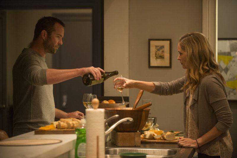 """Blindspot -- """"Split The Law"""" Episode 105 -- Pictured: (l-r) Sullivan Stapleton as Kurt Weller, Jordana Spiro as Sarah Weller -- (Photo by: Barbara Nitke/NBC)"""