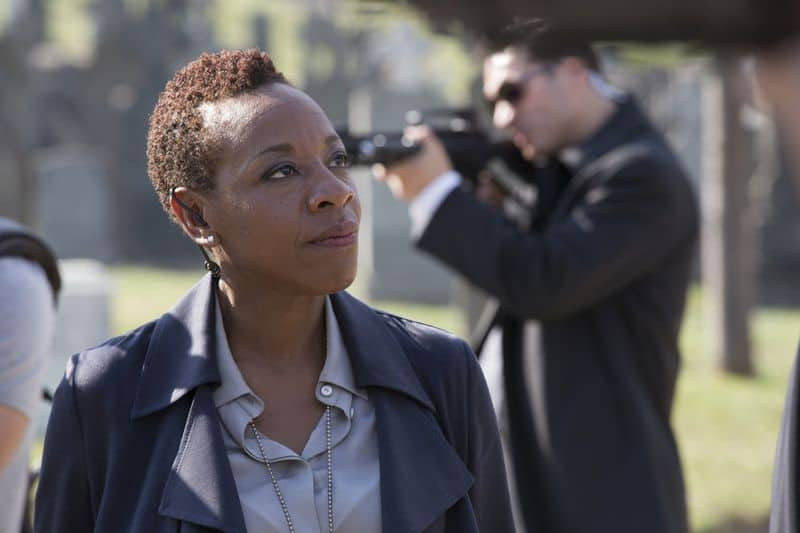 "BLINDSPOT -- ""Split The Law"" Episode 105 -- Pictured: Marianne Jean-Baptiste as Bethany Mayfair -- (Photo by: Paul Sarkis/NBC)"