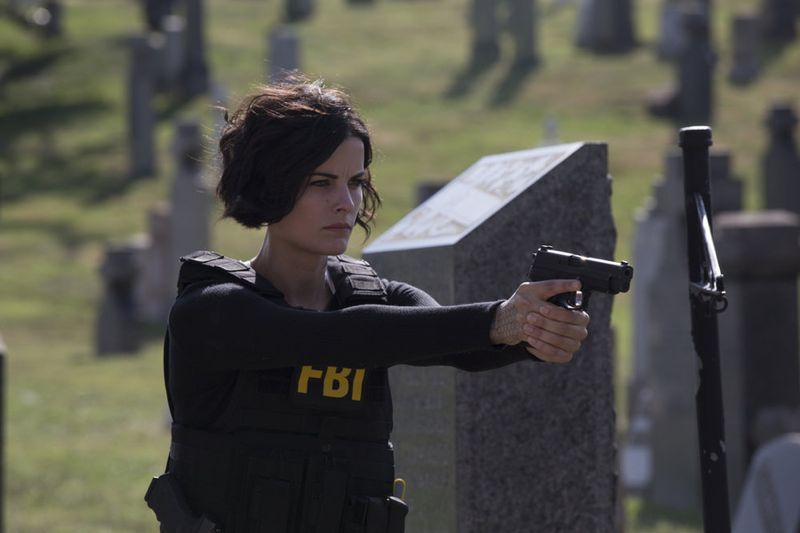 "BLINDSPOT -- ""Split The Law"" Episode 105 -- Pictured: Jaimie Alexander as Jane Doe -- (Photo by: Paul Sarkis/NBC)"